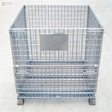 galvanized foldable collapsible metal storage wire mesh