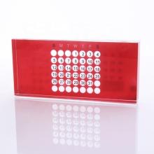 Calendario Perpetuo Acrílico Rojo