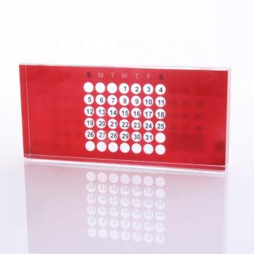 Acrylic Perpetual Calendar Red