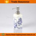 Blue Flower Decal Porcelain Bathroom Set Wholesale