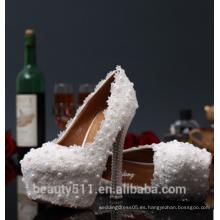Mujeres nupcial de cristal de la boda zapatos WS003