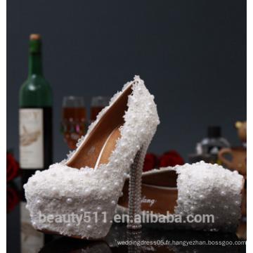 Femmes Chaussures de mariée en cristal nuptiale WS003