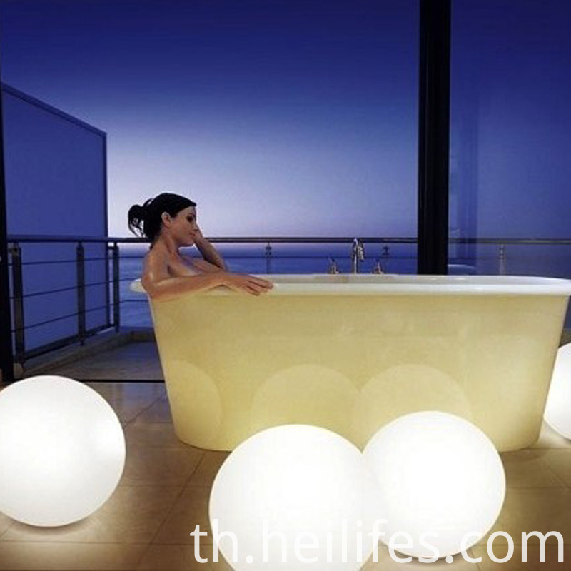 Outdoor Decorative Colorful Color Water Float Charging Remote Control Ball Lights
