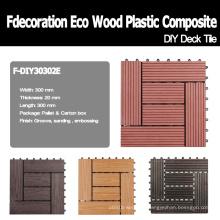 9 Modelle zu wählen Wood Plastic Composite WPC Fliesen