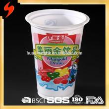 Los fabricantes chinos aduana imprimieron la taza plástica disponible de alta calidad del logotipo 8oz / 240ml PP