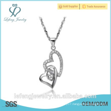 Fashionable jewelry factory price platinum heart necklace necklace platinum plated for women