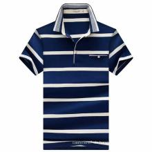 Soem-Baumwollgestreiftes Garn gefärbtes Polo-Hemd für Mann
