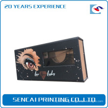 custom 3d mink rose gold stamping lashes packaging box with window
