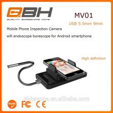 Câmera do endoscópio do telefone móvel da câmera 5.5mm da detecção do escape da inspeção da tubulação