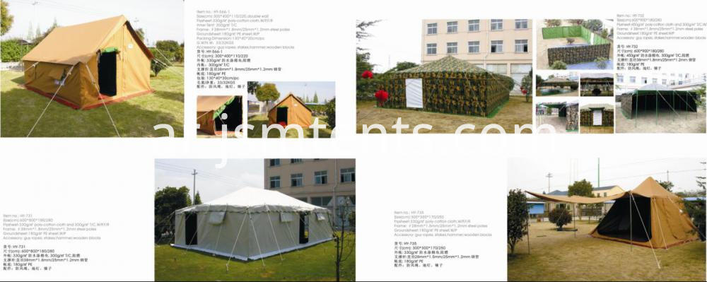 Permanent military steel rescue tent