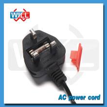 UK Cable de alimentación fusible con enchufe de 2.5A 250V