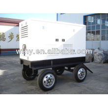 40kw Conjunto de generador de cuatro ruedas mobil