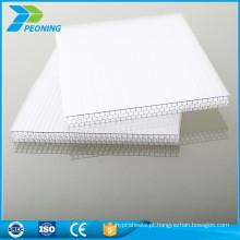 China novos produtos painéis de solário de plástico colorido painéis de toldo material folha de cobertura