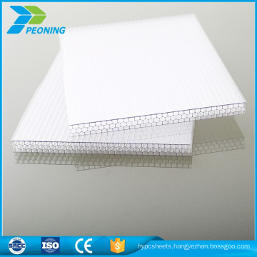 Plastic colored lexan polycarbonate pc hollow sheet
