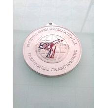 Badge en argent plaqué or, médaille de compétition sur mesure (GZHY-KA-007)