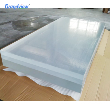 Transparent acrylic panels for swimming pool