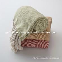 100% органический хлопок броска одеяло