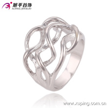 Fashion Popular Simple No Stone Silver- Plated Jewelry Finger Rings Design for Women--13549