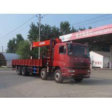 Caminhão 8X4 Hualing com guindaste de carga 12ton / 14ton