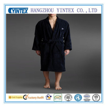 Men′s 100% Cotton Terry Cloth Light Weight Woven Bathrobe Robe