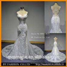 Кружева белое свадебное алибаба платья русалка бретельках свадебные платья низкая вырезать задняя видеть сквозь западное платье девушки платье партии