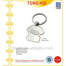 Souvenir T-shirt shape metal keyrings for famous brands