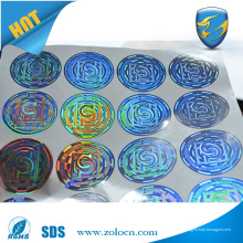 Anti pegatina holográfica de la falsificación hola