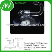 Copo elétrico de sucção de 40mm com gancho de plástico médio