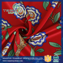 Women Dress Fabric Digital Printing Satin Fabric 100% Polyester Fabric