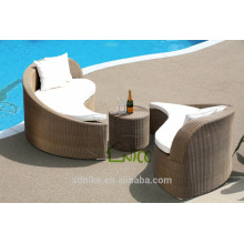 SL-(35) outdoor patio furniture PE rattan sofa cum bed designs/ sleeper sofa