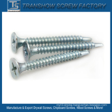 Blue White Zinc Galvanized Drywall Screw