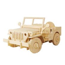 Boutique Farblose Holz Spielzeug Fahrzeuge-Jeep