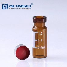 HPLC GC Amber crimp autosampler 2ml dram vial with write on patch
