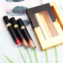 Luxury Gradient Wholesale Lipgloss Set 15 Colors Long Lasting Private Label Waterproof Matte Lipgloss Set