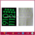 reflective letter stickers / halloween reflective stickers