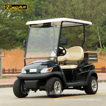 Carro de golfe elétrico do carro do clube do carrinho do golfe de 2 seater com carga traseira