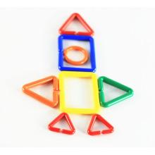 Plástico Magnético Blocos de Construção DIY Links Set Crianças Brinquedo Educacional Primitivo Jogos de Puzzle para Crianças Pré-escolares