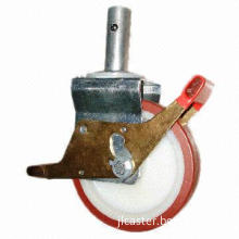 Round High-quality Scaffolding Casters, European Style, 50mm Wheel Width