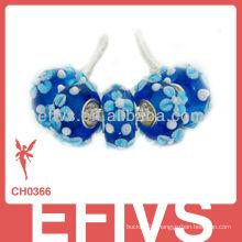 2013 5pcs Silver glass beads lampworke alibaba
