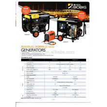 Italien-Technologie luftgekühlter Generatorsatz 5,0 6,5 dreiphasig oder einphasig