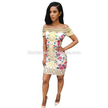 Elegante mujer sin mangas Sexy fuera del hombro paquete Hip Bodycon encaje delgado vestido de lápiz