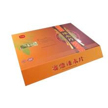 Boîte cadeau en carton rigide haut de gamme avec incrustation de soie