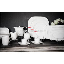 P&T porcelain factory deep plates, square plates, restaurant dinner plates, coffee cups and saucers