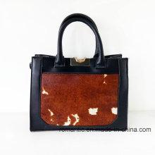 Guangzhou Lieferant Mode Dame Pelz Leder Handtaschen (NMDK-052201)