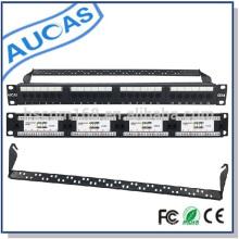 Panel de conexiones UTP 24 puertos CAT6 unshielded 8p8c rj45 red CE / ROHS / FCC