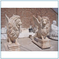 Hand Carving Stone Garden Animal Lion Statue