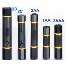 Nuevo diseño CE Cerficated alta potencia 2D linterna