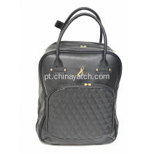 Beauty Lady PU Travel Trolley Bag
