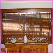 Innenbefestigung, dekorative Stoffbänder, Kordel nach links, Liftschnüre rechts 2 Zoll Echtholzjalousien