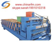Machine de formage de rouleaux de carreaux en métal à double couche